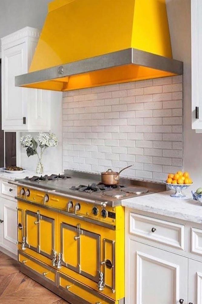 Idée de cuisine jaune citron