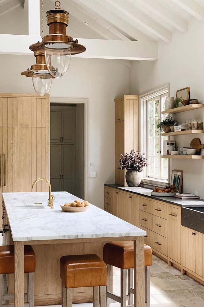 Idées de cuisine avec tabourets de comptoir rétro