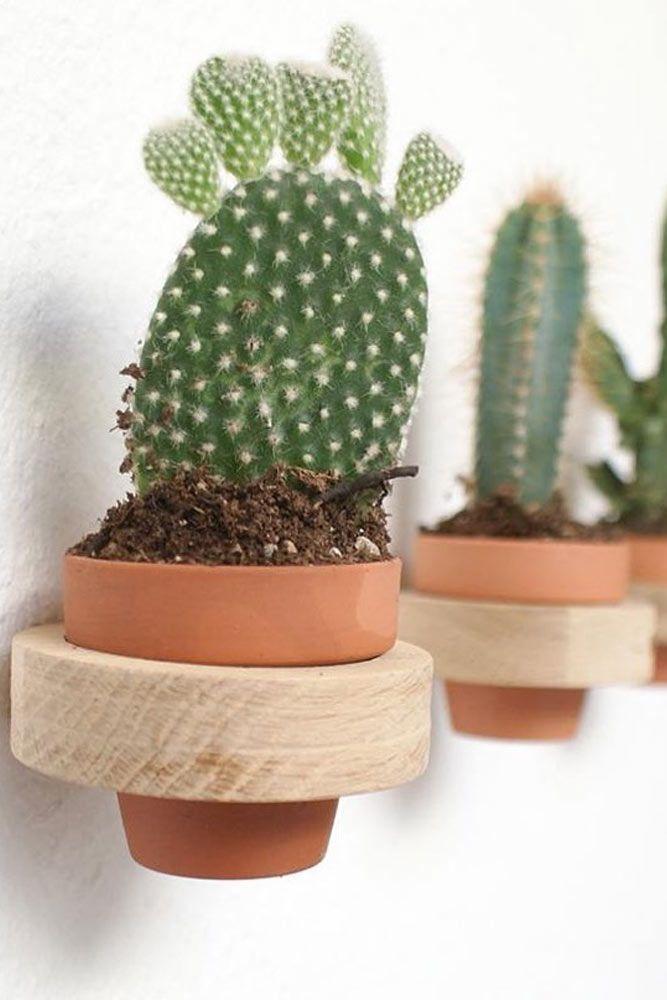 Jardinière verticale avec anneaux en bois