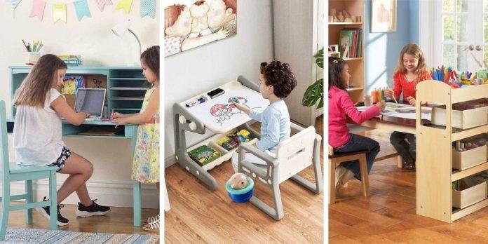 Bureaux pour enfants avec rangement